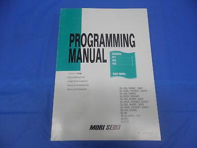 Mori Seiki Machine Co. Cnc Programming Manual Pm-nltmsc518 Sl Sl-s Tl Vl Ll