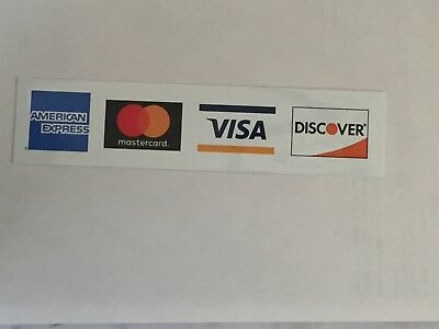 Credit Card Logo Decal Sticker - Visa Mastercard Discover And American Express