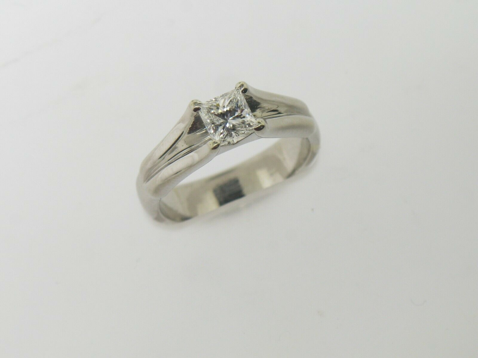 18K White Gold .64 CT Princess Cut Engagement Ring (Internally Flawless) (GIA) 8
