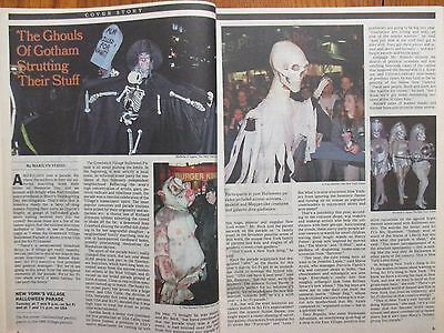 N Y Halloween Parade (October 29, 2000  N Y Times TV Magazine(THE GREENWICH VILLAGE HALLOWEEN )