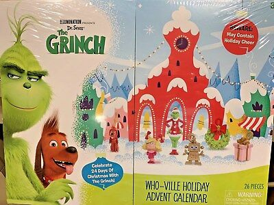 DR. SEUSS THE GRINCH WHO-VILLE HOLIDAY ADVENT CALENDAR NEW FOR 2018 HTF