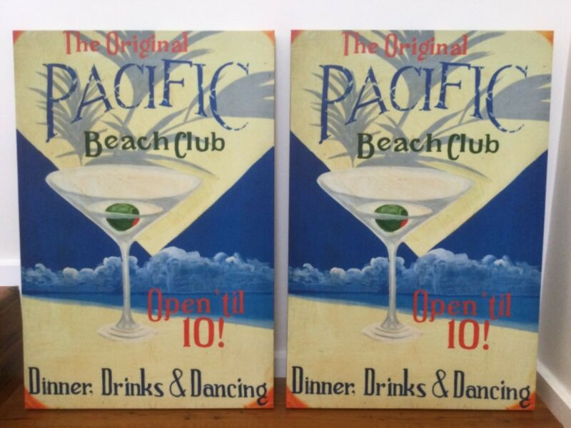 Pair Of Canvas Prints Pacific Beach Club Art Deco Style Picture Frames Gumtree Australia Gold Coast South Burleigh Heads 1263432544