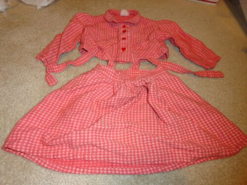 Vintage Little Star Frocks Pink & Red Skirt & Top Outfit Size 2 T