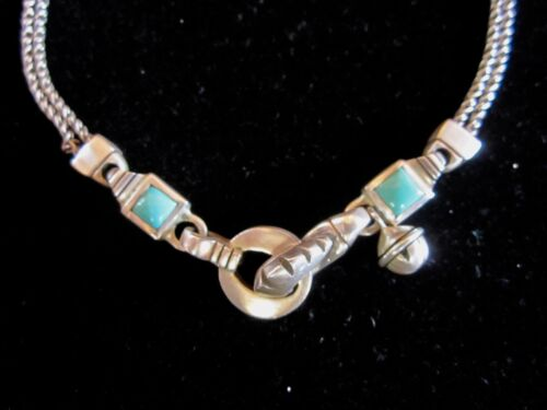 LISA JENKS silver & turquoise necklace