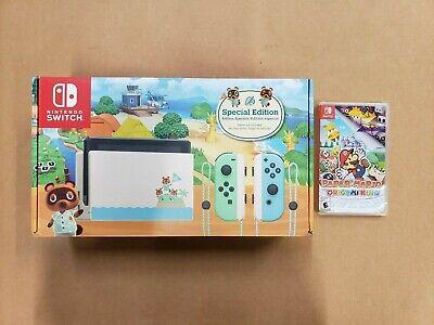 Nintendo Switch Animal Crossing: New Horizons 32GB Console w/Paper Mario Bundle