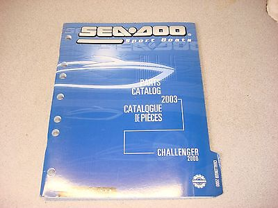 SEA DOO PARTS BOOK CATALOG SCHEMATICS CHALLENGER 2000 2003 219 301 540 JET BOAT