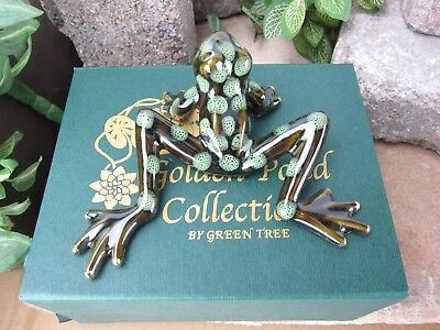 Golden Pond Collection   Ceramic Frogs  Handmade Craft  Perfect Gift  Fine Art