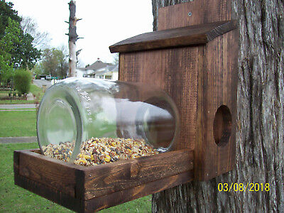 PLANS Jar Squirrel feeder Woodworking Pattern Garden Yard Art Bird Nectar Cabin