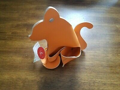 Orange Cat Leather Medium Desk Organizer Office Home By Vacavaliente New