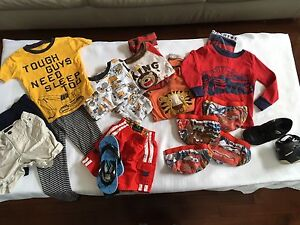 70 items boy toddler Clothes 24m to age 3+