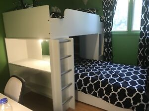 South Shore LOFT BEDS WITH DESK AND LIGHT