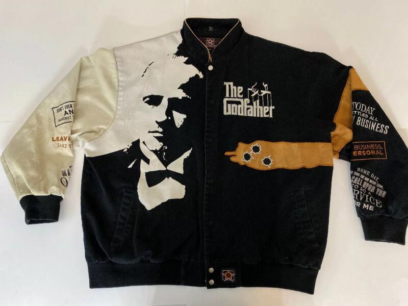 Vintage The Godfather Don Corleone Denim Jacket JH Design  4XL XXXXL  Gangster