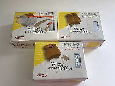 3x Xerox 016-2043-00 Yellow Solid Ink Phaser 8200 Genuine