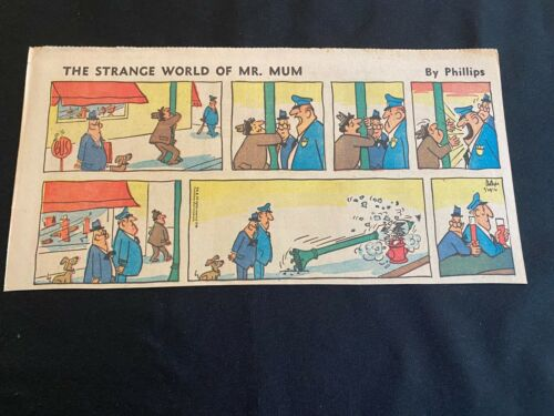 #06 STRANGE WORLD OF MR. MUM by Irving Phillips Lot of 6 Sunday Third Pages 1967