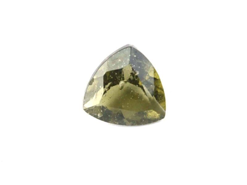 0.59cts TRIANGLE 6mm STANDARD CUT moldavite faceted cutted gem BRUS1530