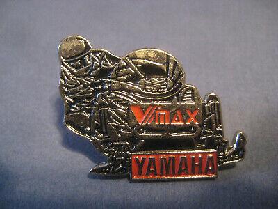 PIN vintage YAMAHA Snowmobile advertising pinback lapel hat racing VMax