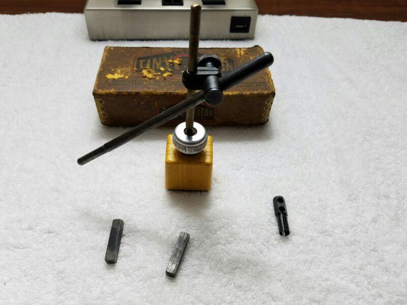 ENCO TINY-TITAN MAGNETIC BASE INDICATOR HOLDER #100 WITH BOX VINTAGE USA