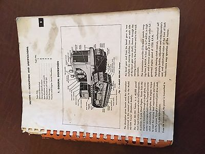 Allis Chalmers Allis-chalmers Hd19 Crawler Service Manual Hd 19 Bulldozer