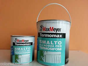 Termomax pittura smalto all 39 acqua per radiatori for Smalto all acqua