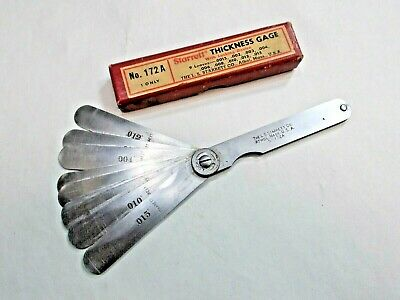 Starrett No. 172a Machinists Thickness Gage With Locking Device Made In Usa