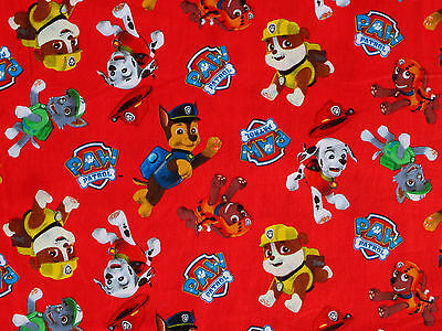 FAT QUARTER FABRIC PAW PATROL QUILT COTTON CHASE RUBBLE ZUMA ROCKEY QUILTING  FQ](Paw Patrol Fabric)