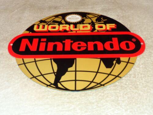 "VINTAGE WORLD OF NINTENDO 12"" METAL MARIO BROTHERS NES 64 SNES GASOLINE OIL SIGN"