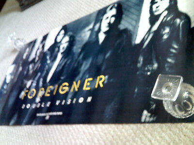 FOREIGNER DOUBLEVISION Very RARE Orig 1978 Record Company promo poster 47x23!!