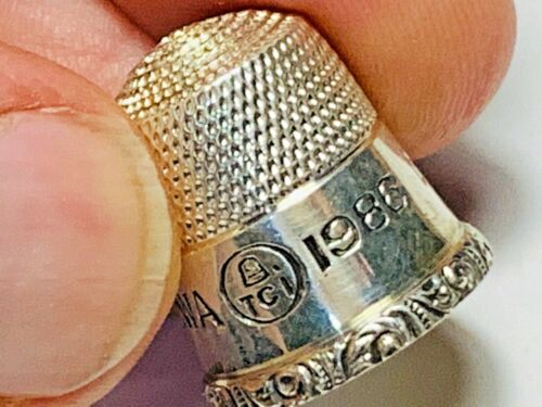 Sterling Thimble  Ketchum Mc Dougall  1986 DES MOINES, IOWA  ID Number 326
