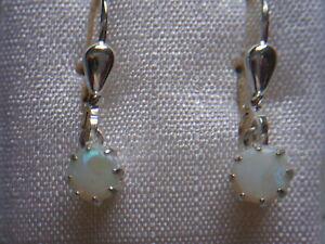kleine Opal Ohrhänger 925er Sterlingsilber, Silber Ohrhänger 925 mit Opalen