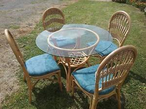Round Glass Top cane table and 4 chairs Kempton Southern Midlands Preview