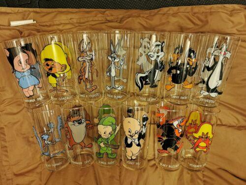 13 Different 1973 Pepsi Looney Tunes Drinking Glasses Nice Rare Glassware