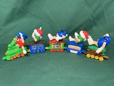 2005 M&M's Toy Christmas Train 5pc Set