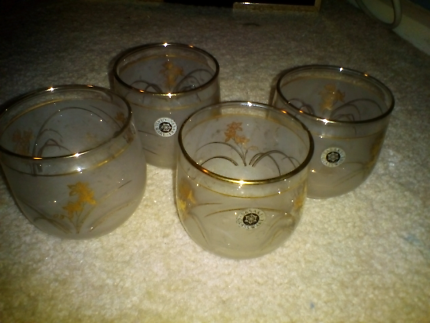 Sasaki crystal glasses