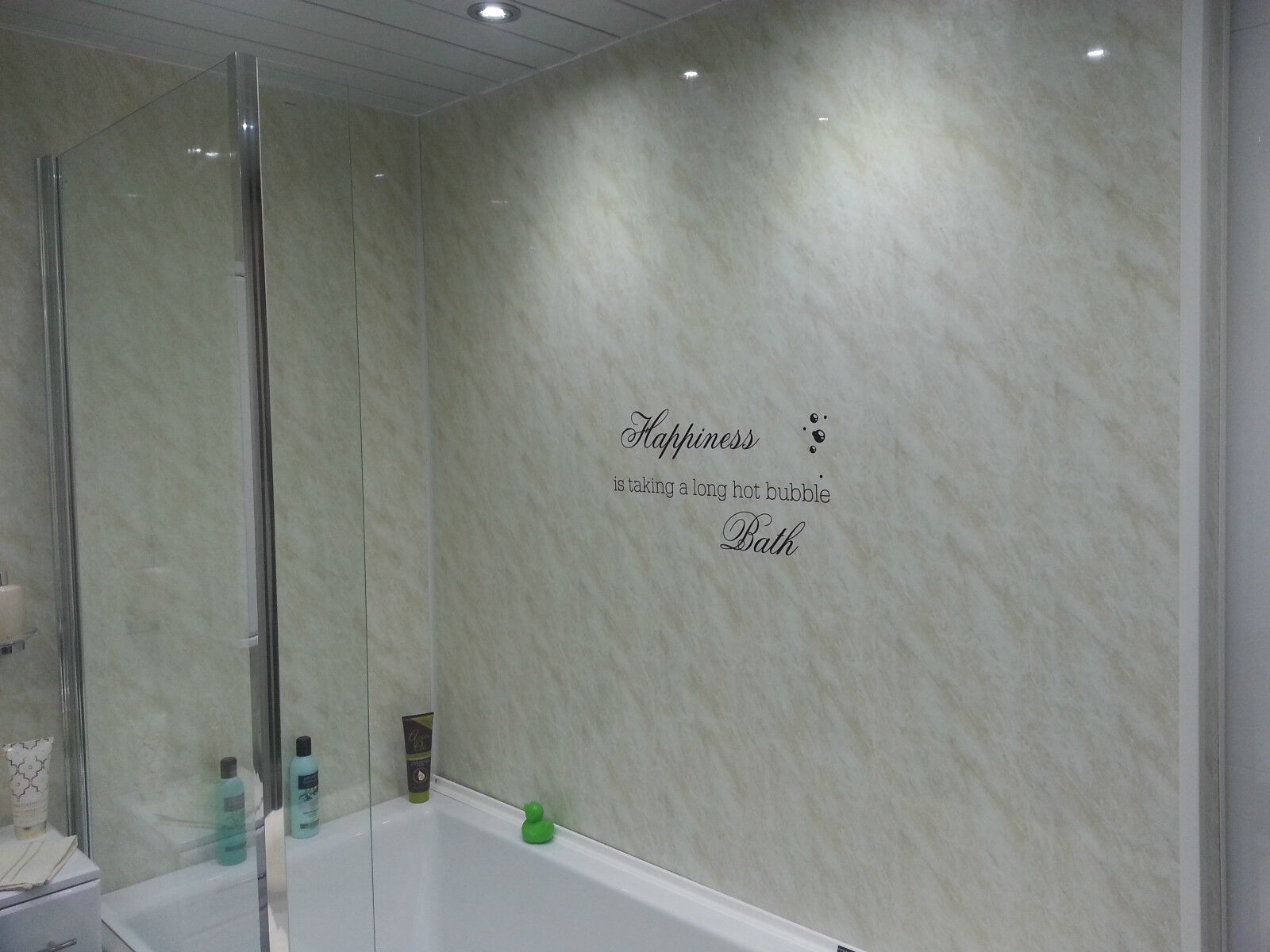 3 travertine marble effect decorative interior wall