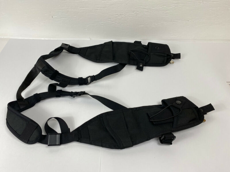 Dual Radio Adjustable Harness, Chest Radio Harness, Black, One Size Fits All