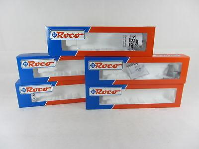 5 Roco Leerkartons 47633 für Taschenwagen, Loks oder andere Waggons ohne Inhalt