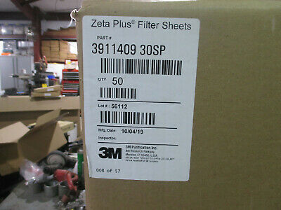 3m Zeta Plus Filter Sheets Box Of 50 Pt. 3911409 30sp 19.4 Disc