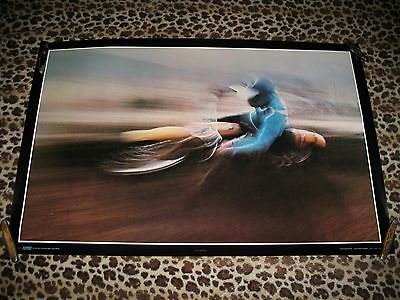 1970's Vintage THOUGHT FACTORY Motocross Motorcycle Racing Poster BULTACO CZ MX for sale  Dallas