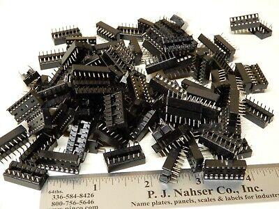 16 Pin Ic Sockets Pcb Mount Huge Lot Nos