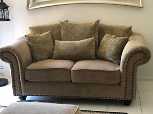 Fabric Sofa set with ottoman