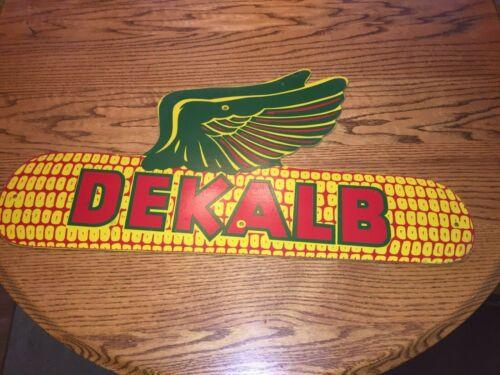 Vintage Dekalb Masonite Wood Farm Corn Feed and Seed Sign