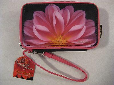 Harold Feinstein Pink Dahlia Smart Phone Wristlet and Wallet NEW SEALED CLUTCH