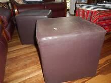 2 brown vinyl footstools FREE Mackay 4740 Mackay City Preview