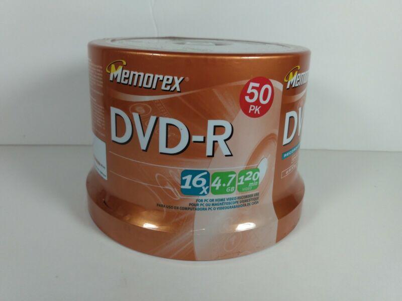 Memorex DVD-R 50 Pack 16x 4.7GB 120 Min Sealed Spindle Package