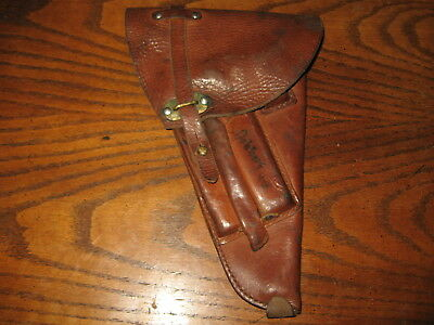 Swedish brown leather Lahti holster military 9mm m/40 used