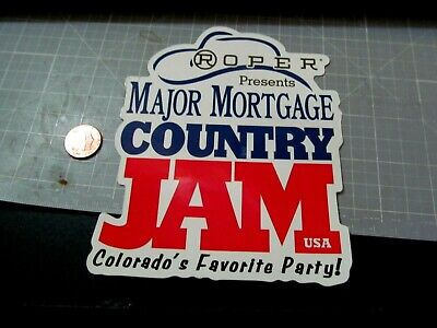 COUNTRY JAM Sticker Decal ORIGINAL old stock VINTAGE