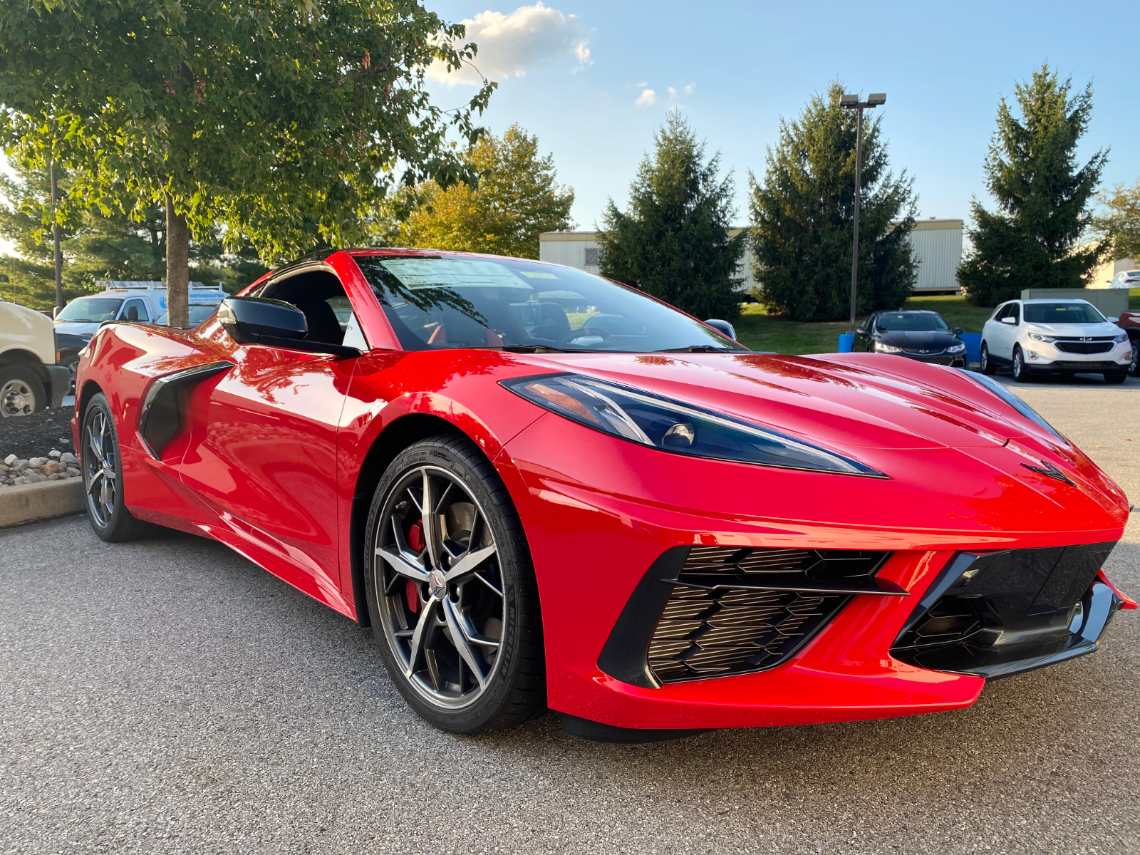 2020 C8 Chevrolet Corvette Stingray Coupe 3LT in Torch Red