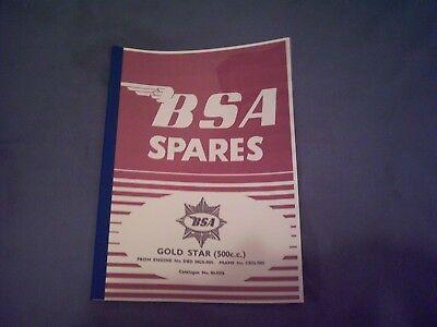 BSA Goldstar parts book