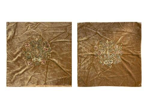 18th Century French Appliqué on Velvet (for pillow)