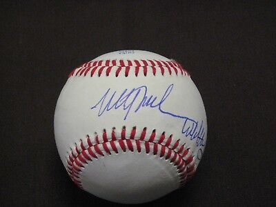 PHILLIES GREAT  MITCH WILLIAMS AUTOGRAPH BASEBALL INSCRIBED WILD THING COA - Williams Autograph Baseball